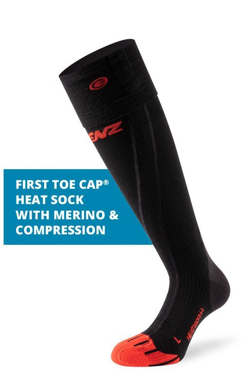 LENZ Heat Socks 6.0 Toe Cap Merino Compression