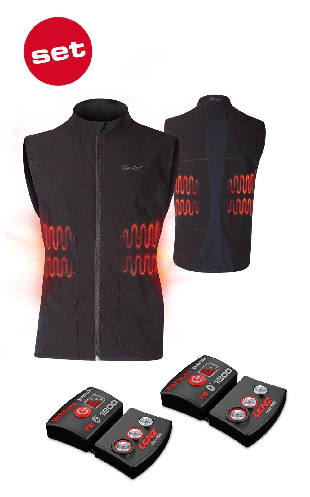 SET - LENZ Heat Vest 1.0 Men + batteries lithium pack rcB 1800